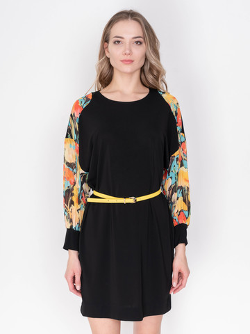 Э4365/10C/19-1 Платье+ремень  Angelo Marani