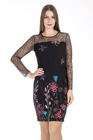 ЭAX38/0613/17-2 Платье+брошь Anna Rachele